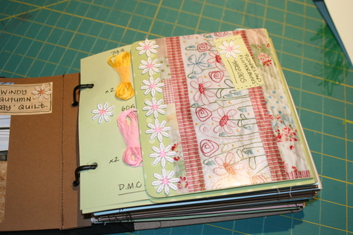 Flowers and Flutterbuys journal pages