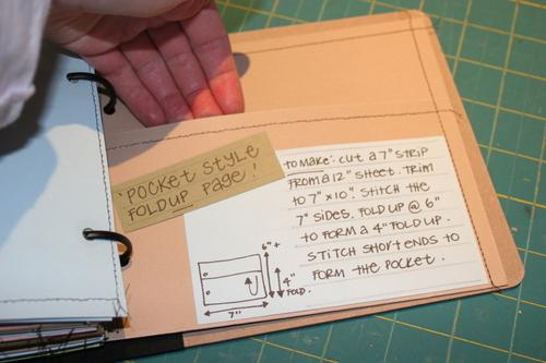 Pocket Style Fold up Page